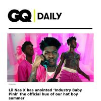 Lil Nas X has anointed 'Industry Baby Pink' the official hue of our hot boy summer