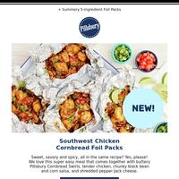 NEW Southwest Chicken Cornbread Foil Packs