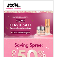 💕Beauty Upto 50% Off  At The Nykaa Hot Pink Sale 💕