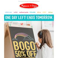 BOGO50 Ends Tomorrow + 6 Free Back-to-School Printables!