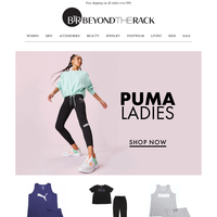 Save up to 15% off Fashion Fitness Apparel   Shop Puma apparel and accessories