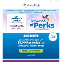 Last Day to Enter Sweepstakes: $5,000 Grand Prize