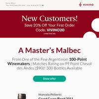 50% Off Back-Vintage Beauty from 100-Pt Winemaker