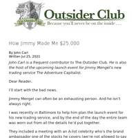 How Jimmy Made Me $25,000