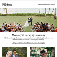 5 Things an Officiant Should Never Do on the Wedding Day
