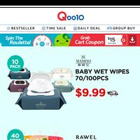 K-LIVING & FOOD HOT SALE!!▶ $9.99 Baby Wet Wipes, $17.90 RAWEL Konjac Jelly Bundle Deals & More>>