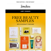 Hurry! Don't miss out on free beauty gifts