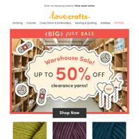 BIG July stash savings! Up to 50% off