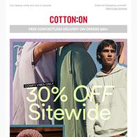 ATTN 📢 Shop 30% off sitewide