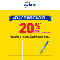 20% Off 🖍️ Back to School