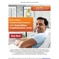 Dear {NAME}, Complete Health Insurance with Worldwide cover
