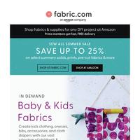 New! Baby & Kids fabrics! Hurry! Selling fast!