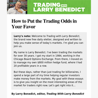 How to Put the Trading Odds in Your Favor