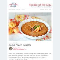 The Easiest Dump Peach Cobbler