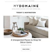 4 unexpected places to shop for décor gems
