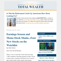 Earnings Season and Meme-Stock Mania...Four New Stocks on the Watchlist