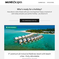 Luxe Maldives resort with beachfront villas