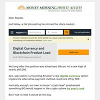 Amazon speculation fuels crypto surge