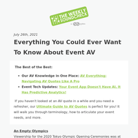 Everything you could ever want to know about event AV 🔊💡