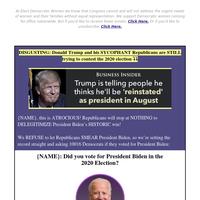 Did {NAME} vote for President Biden?