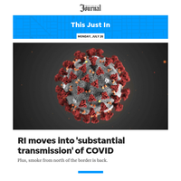 This Just In: RI moves into 'substantial transmission' of COVID