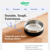 Keep your dog's feeding area clean with this new setup