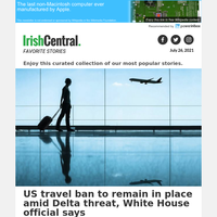 US ban on travel, including from Ireland, to remain in place amid Delta threat