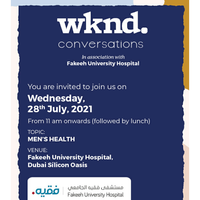 Register now to attend the wknd. Conversations Event | Topic - Men's Health