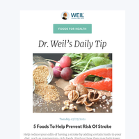 5 Foods To Help Prevent Risk Of Stroke