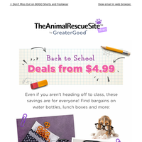 Back to School Deals from $4.99