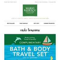 Free Bath & Body Travel Set Ends Tomorrow!