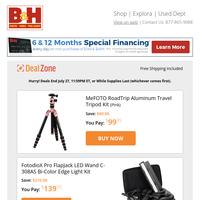 Today's Deals: MeFOTO Travel Tripod Kit, FotodioX LED Wand Light Kit, GVM Teleprompter, Tilta 4K/6K Advanced Module & More