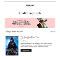 Your next Kindle book on deal today