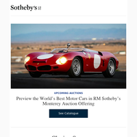 Preview the World's Best Motor Cars in RM Sotheby's Monterey Auction Offering  and more