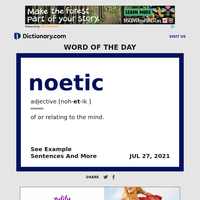 noetic | Word of the Day