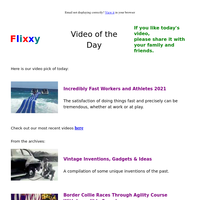 ★ Video of the Day & Quote of the Day - by Flixxy.com - Incredibly Fast Workers and Athletes 2021