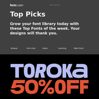 Grow your font library today!