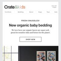 Snuggle up: NEW Organic Baby Bedding