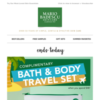 Free 4-Piece Travel Must-Haves Gift Set Ends Today