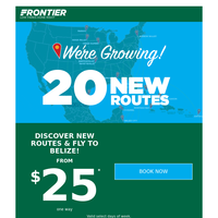 Hey Denver, new routes from $25 + now fly to Belize!