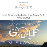 Win the Ultimate Golf Giveaway