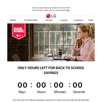 The clock is ticking! Shop NOW for A+ Back to School prices