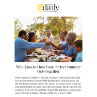 Win: $500 to Host Your Perfect Summer Get-Together (Partner)