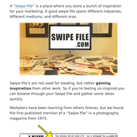 A Free Swipe File for Copywriters, Freelancers, Designers & Direct Marketers