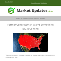 Former Congressman warns something BIG is coming