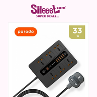 Unmissable Deal! Check Out The 33W 6 Way 5 USB Power Socket from Porodo, Only for 6.9KD!