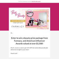 Hurry and Enter Now! You Could Win a $1,500 Beauty Package!