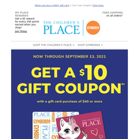 Back-to-School Savings: Get a $10 gift coupon!