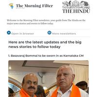 The Morning Filter: Swearing-in in Karnataka