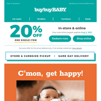 Allll your nursing & feeding needs in one place >> Plus, you've got a 20% off coupon.